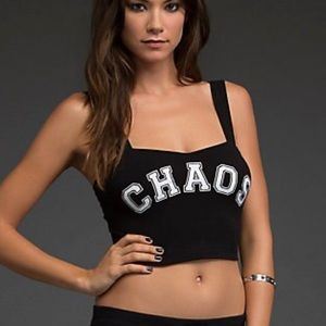 Hot topic CHAOS black caged crop top Bralette